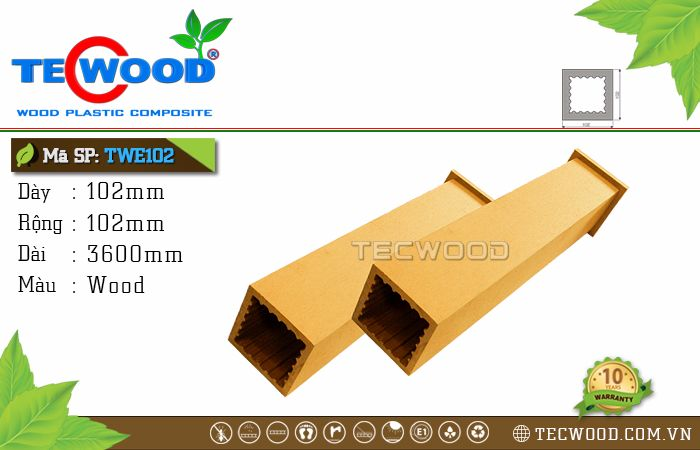 Trụ cột gỗ nhựa TWE102-Wood