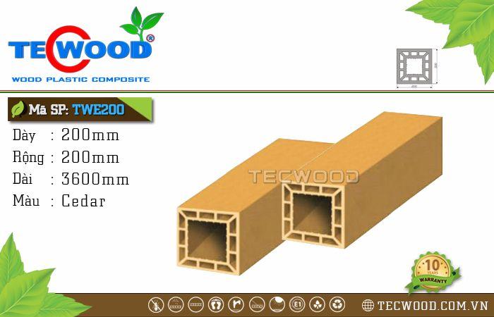 Trụ cột gỗ nhựa TWE200-Cedar
