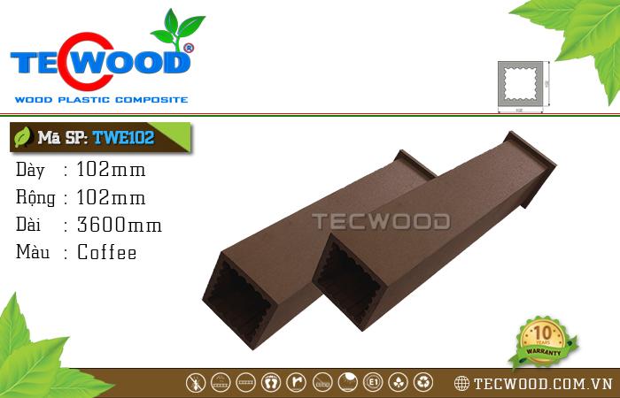 Trụ cột gỗ nhựa TWE102-Coffee