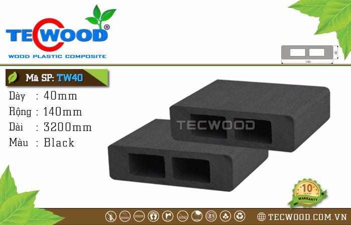 Thanh lam gỗ nhựa TW40 - Black