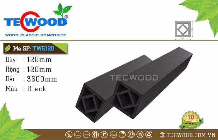 Trụ cột gỗ nhựa TWE120-Black