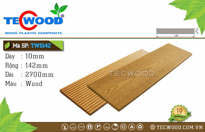 Tấm ốp gỗ nhựa TWS142 Wood