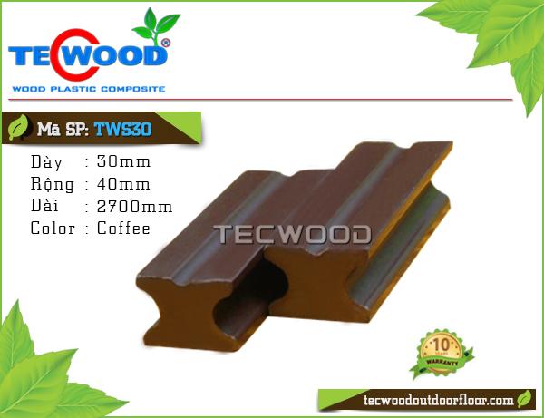 Thanh đà gỗ nhựa TWS30-Coffee