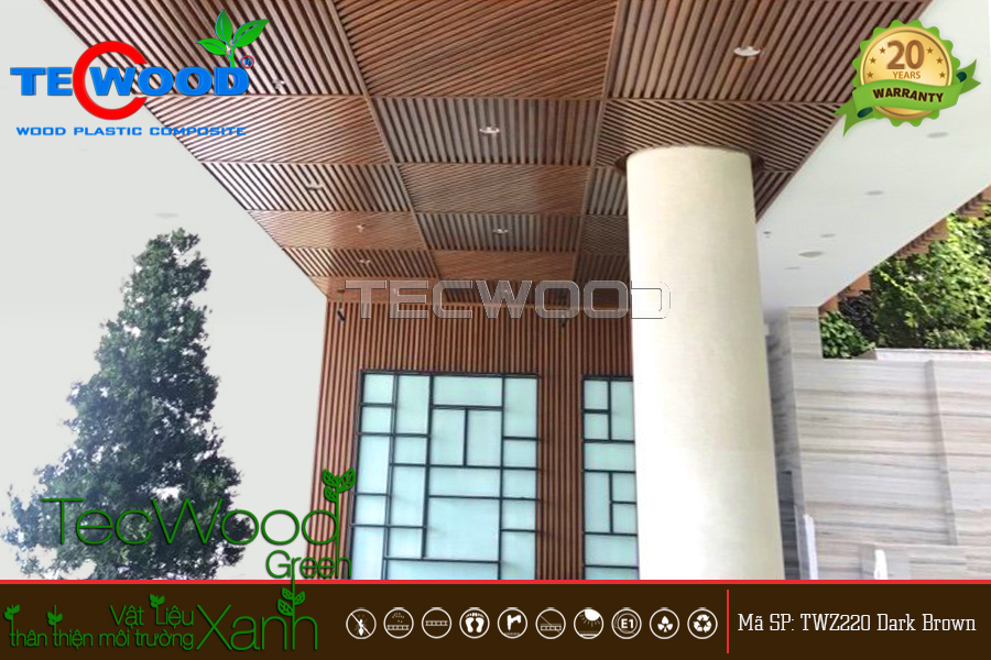 Bảng Giá Gỗ Nhựa Ốp Trần - TecWood