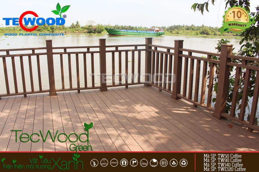 Lót sàn gỗ nhựa, trang trí bến cảng Bình Mỹ - Củ Chi