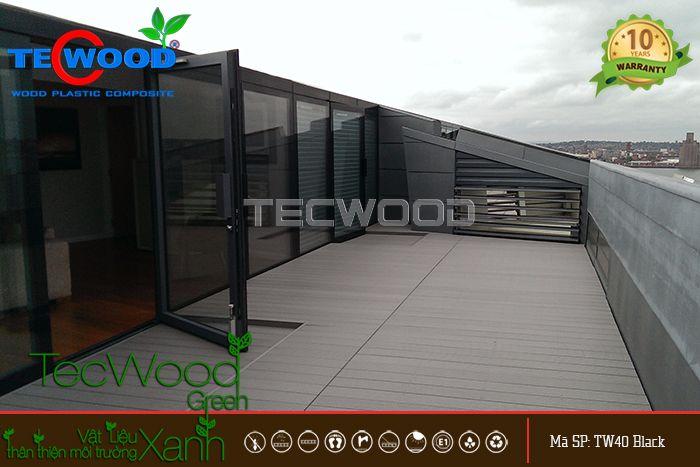 Công trình lót sàn gỗ sân thượng