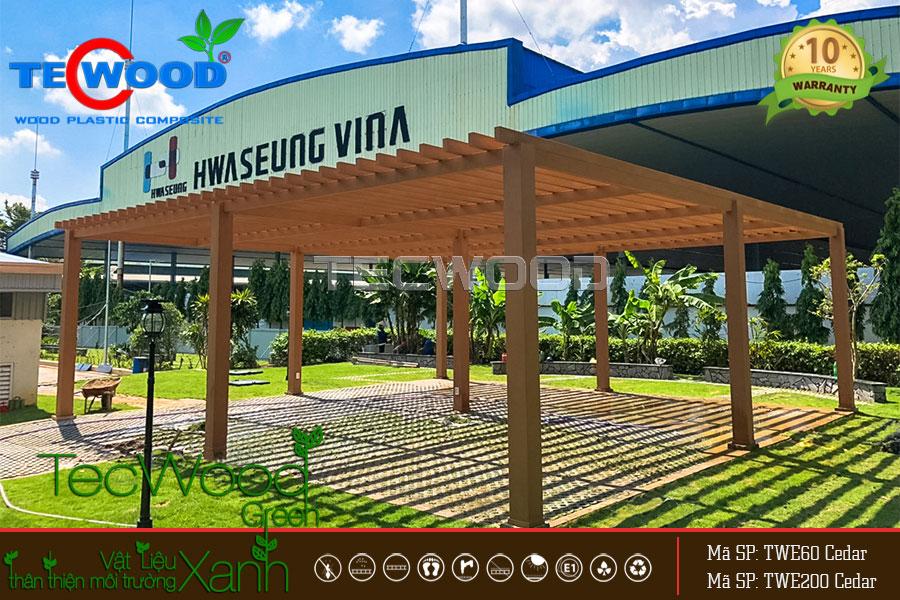 Dự án giàn lam Công ty Hwaseung Vina