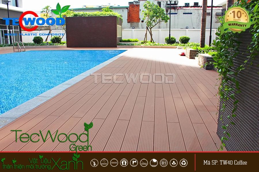Sàn gỗ ngoài trời tại Bình Thuận