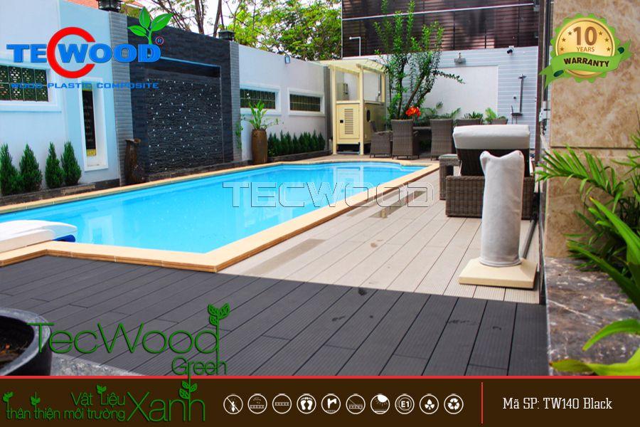 Dự án sàn gỗ hồ bơi tại villa Sông Sài Gòn