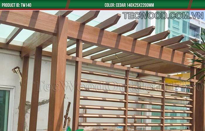 Ý tưởng sử dụng gỗ nhựa ngoài trời làm lam che nắng cực đẹp