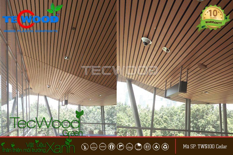 Lam gỗ ốp trần trong nhà và ngoài trời