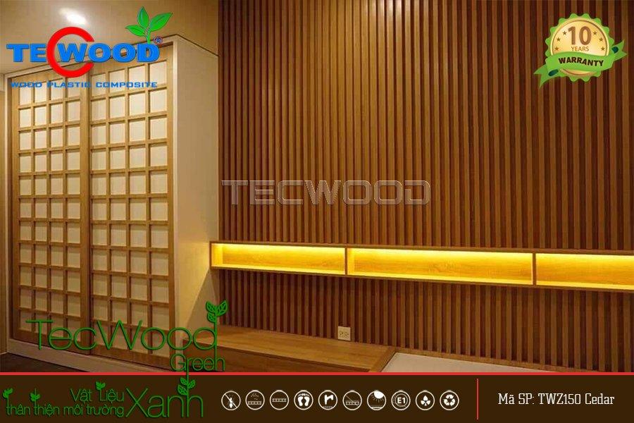 Lam nhựa giả gỗ ốp tường tạo sóng bền đẹp - Gỗ Nhựa TecWood