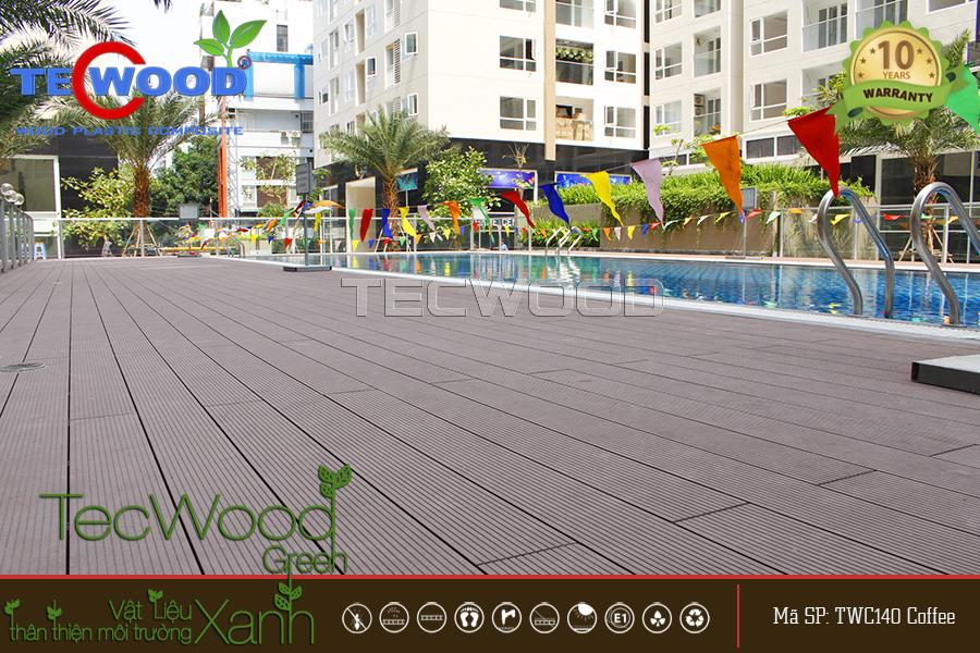 Dự án lót sàn gỗ ngoài trời TecWood cho căn hộ Sky Center Tân Bình