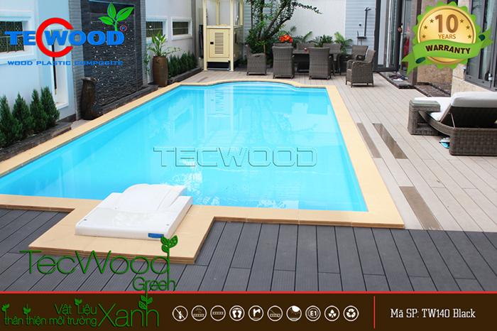 Kích thước tấm gỗ lát sàn hồ bơi ngoài trời