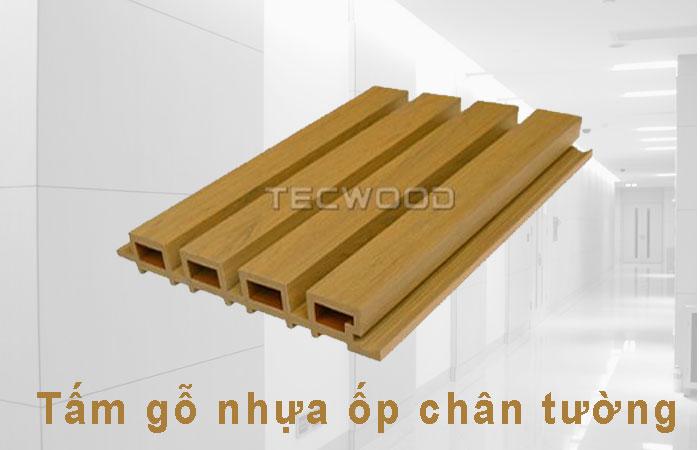 Tấm gỗ nhựa ốp chân tường TecWood