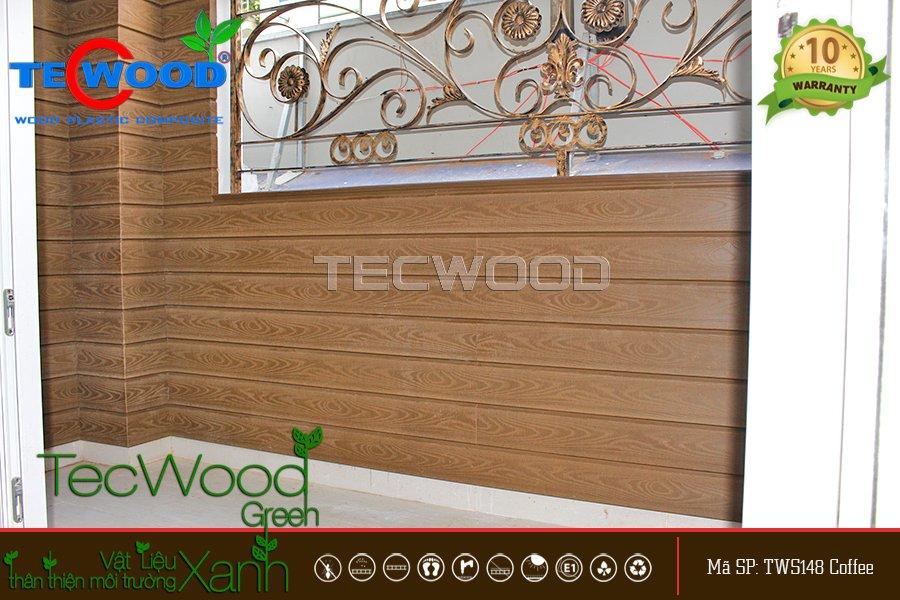 Tấm ốp tường nhựa giả gỗ 3D chống ẩm