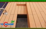 Villa tại Thảo Điền Q2 với san gỗ ngoài trời Tecwood