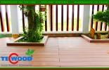 Biệt thự Q2 với sàn gỗ ngoài trời màu Coffee