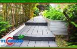 Công trình sàn gỗ ngoài trời tại biệt thư Nam Long Q7