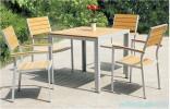 Bàn ghế ngoài trời làm từ gỗ nhựa có tốt không