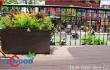 Các loại gỗ nhựa ốp bồn hoa mới nhất cho không gian sân vườn