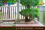 Công trình lót sàn nhựa giả gỗ cho sân vườn