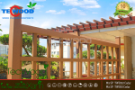 Lam gỗ che nắng mái hiên trang trí ngoại thất