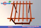 Giàn pergola đơn giản từ gỗ nhựa Tecwood