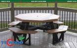 Bàn ghế ngoài trời với gỗ nhựa TecWood