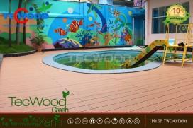 Lót sàn gỗ ngoài trời TecWood cho trường mầm non quận 1