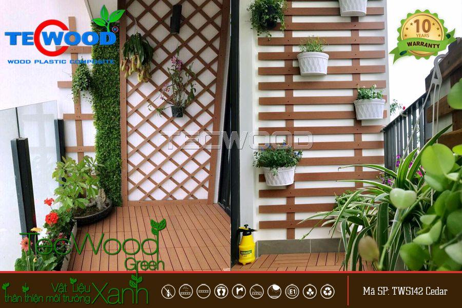 Biến ban công nhà bạn trở nên thu hút hơn với vật liệu gỗ nhựa
