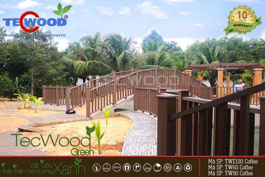 Trang trí biệt thự bằng gỗ nhựa tại Vũng Tàu