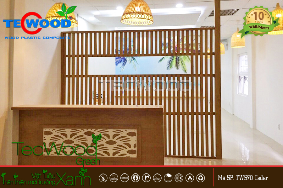 Vách ngăn nhựa giả gỗ TecWood - bền đẹp, tiết kiệm chi phí