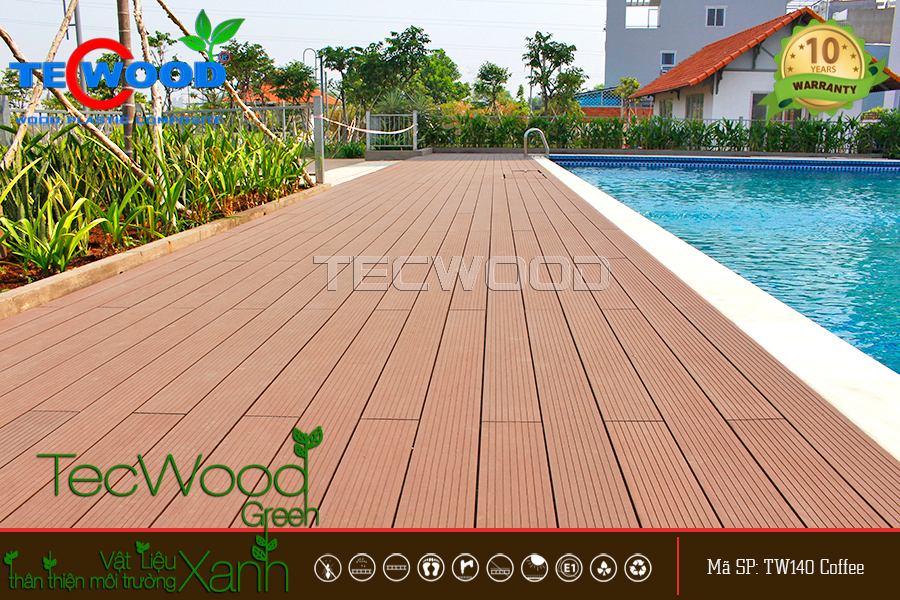 Ván gỗ nhựa lót sàn TecWood chịu nắng chịu nước tốt