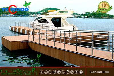 lót sàn gỗ cầu cảng