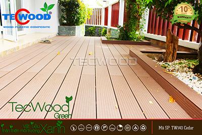 sàn gỗ lót sàn sân vườn