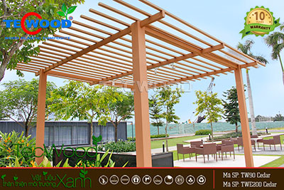 pergola gỗ nhựa