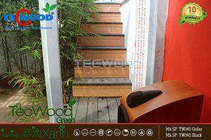 gỗ lát cầu thang