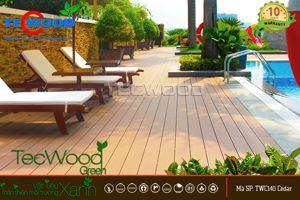 gỗ lót sàn hồ bơi