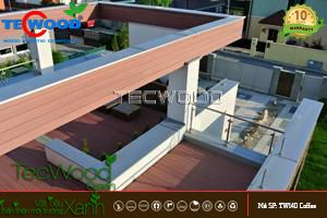 gỗ lót sàn sân thượng