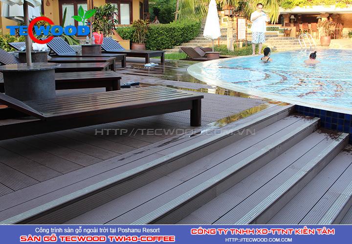 Sàn gỗ ngoài trời Tecwood TW140-Coffee Poshanu resort
