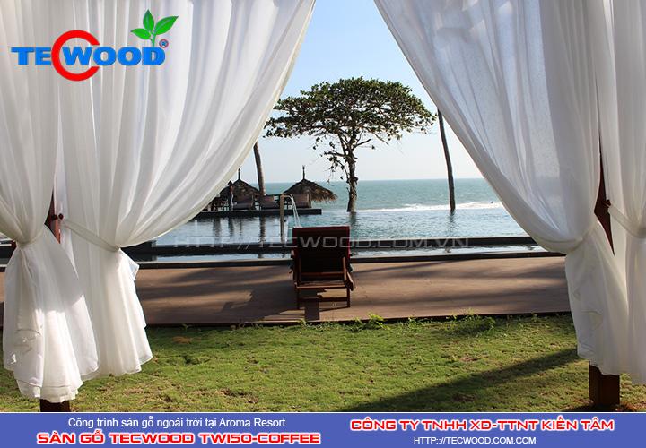 Sàn gỗ ngoài trời tecwood Tw150-Coffee tại Aroma Resort