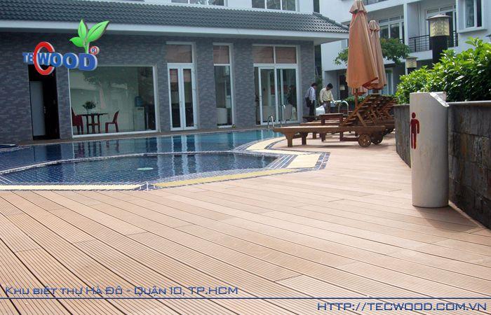 Công trình sàn gỗ ngoài trời Tecwood
