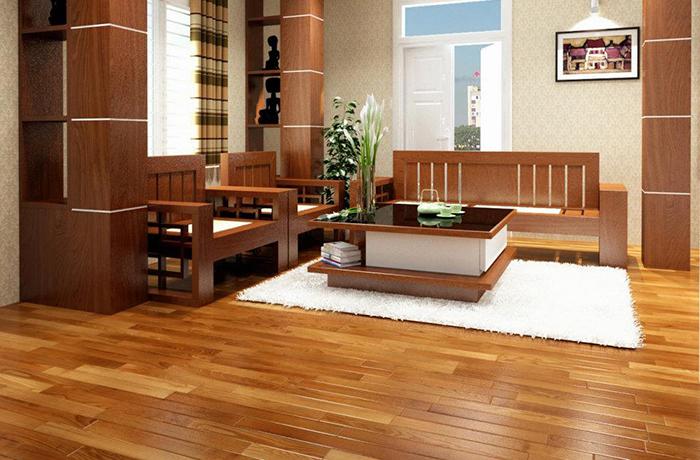 Sàn gỗ tự nhiên lót sàn