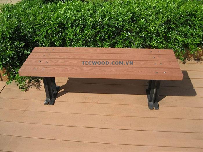 kết hợp trang trí công viên bằng gỗ nhựa