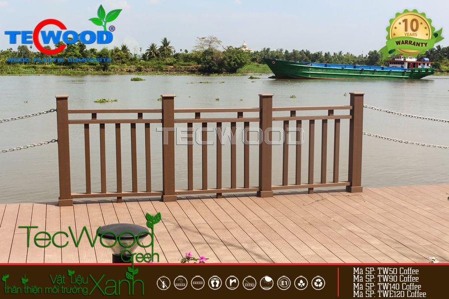 gỗ nhựa trang trí cầu cảng