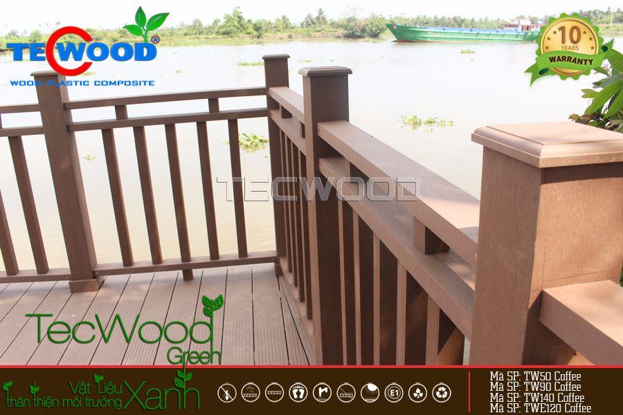 hàng rào nhựa giả gỗ