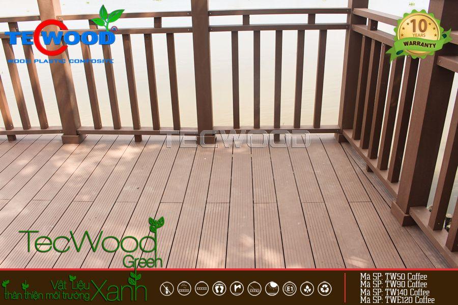 công trình thanh gỗ nhựa