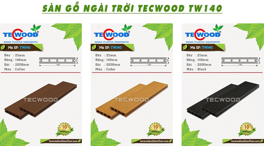 Một số mẫu sàn gỗ nhựa ngoài trời của Tecwood