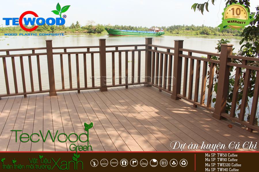Chất lượng sàn gỗ ngoài trời lót sàn bến cảng